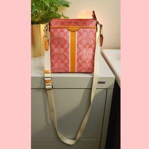 Coach Signature Stripe PVC Swingpack F51265